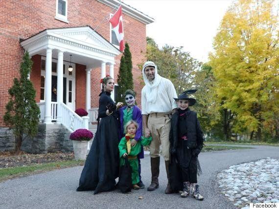 Justin Trudeau et sa famille ont fêté l'Halloween