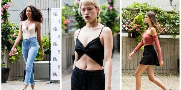 Tous les aspirants mannequins au casting du Festival Mode &