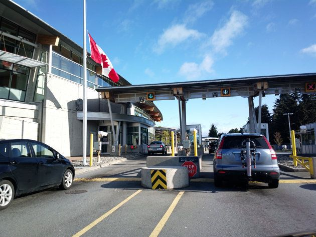 At a border crossing between the U.S. and Canada on April 28, 2014.