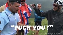 «Fuck you!» Chris Froome ne s'est pas retenu contre le gendarme qui l'a bousculé par