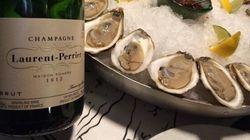 Huîtres et champagne au