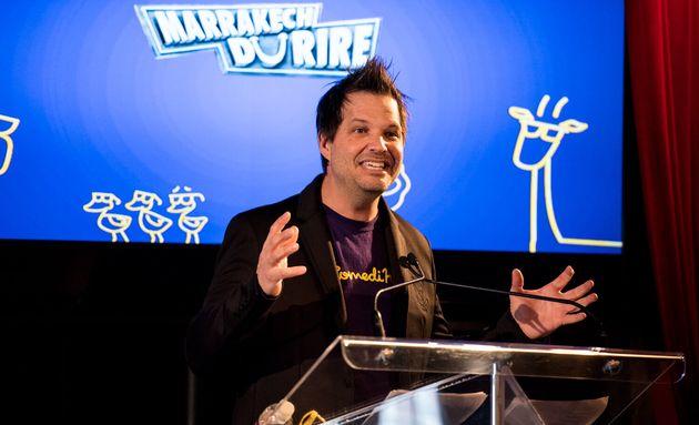 Sylvain Parent-Bédard, lors de la conférence de presse annonçant la programmation des galas du ComediHa!