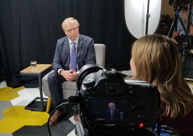 Jean-François Lisée, chef du Parti québécois, lors d'une entrevue au HuffPost Québec.