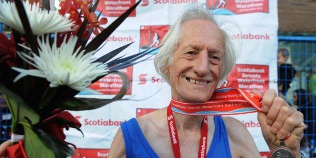 Sept 26th 2010.pics of . 79 yr old ed whitlock set a world record in the ssingle age group for the half...