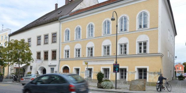 FILE - This Sept. 27, 2012 file picture shows an exterior view of Adolf Hitler's birth house, front,...