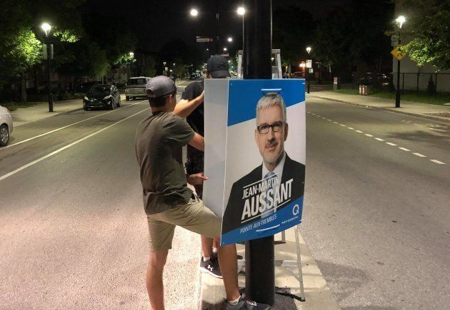 Même les plus jeunes s'y mettent pour Jean-Martin Aussant, candidat du PQ dans Pointe-aux-Trembles.