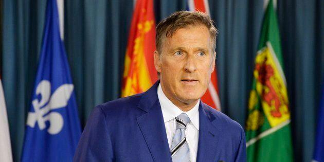 Maxime Bernier a annoncé sa décision lors d'une conférence de presse à Ottawa.