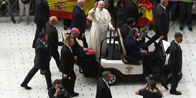Le pape François s'est adressé à la foule lors du Festival des familles de Croke Park à Dublin, en Irlande,