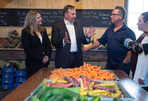La semaine dernière, François Legault a rendu visite à Potager Yvanhoé, une entreprise de Saint-Henri spécialisée en production maraîchère.