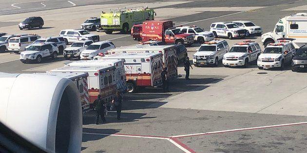 Cette photo aurait été prise par un passager d'un vol à l'aéroport