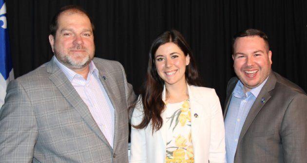 De gauche à droite: Harold LeBel (Rimouski), Catherine Fournier (Marie-Victorin) et Dave Turcotte