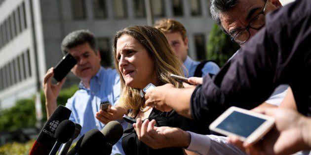 ALÉNA: la ministre Freeland ne perd pas son