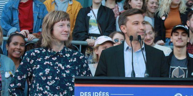 Catherine Dorion et Gabriel Nadeau-Dubois en ont fait l'annonce devant des élèves du Conservatoire d'art...