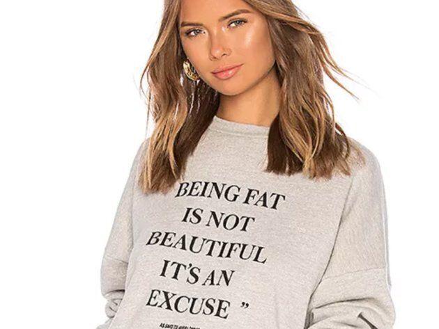«Être gros n'est pas beau, c'est une excuse», le pull qui