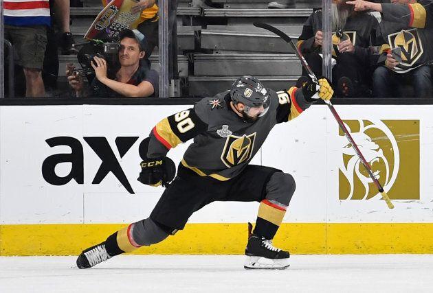 Tomas Tatar était passé des Red Wings de Détroit aux Golden Knights de Las Vegas à la date limite des...