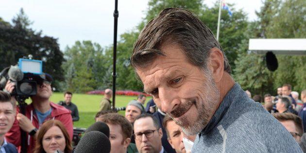 Marc Bergevin a rencontré les médias, lundi matin, dans le cadre du tournoi de golf du