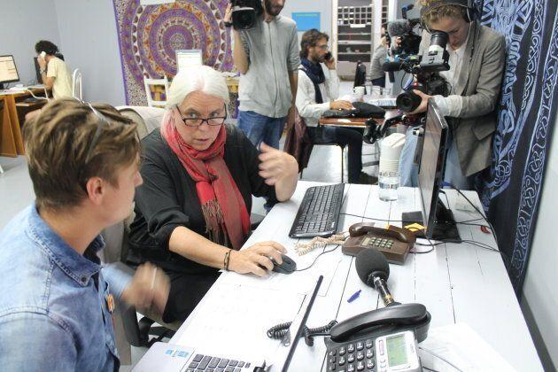 «Je suis la vraie personne, oui!» répond Manon Massé, à la grande surprise d'un électeur rejoint au téléphone.