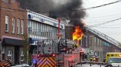 Un incendie majeur dans l'arrondissement de Lachine fait deux