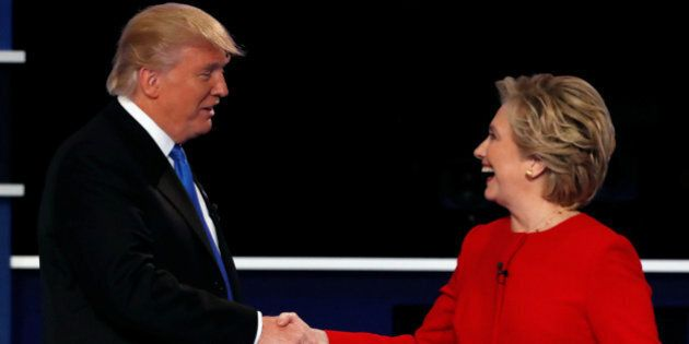 Republican U.S. presidential nominee Donald Trump and Democratic U.S. presidential nominee Hillary Clinton...