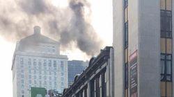 21 septembre Incendie dans le Vieux-Montréal