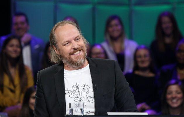 Fabien Cloutier le 30 septembre 2018, sur le plateau de «Tout le monde en parle».