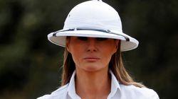 Le casque colonial de Melania Trump pendant sa visite au Kenya ne passe