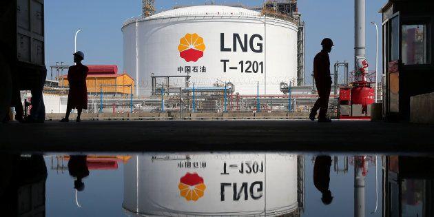 Des installations de gaz liquéfié à un terminal de PetroChina, en