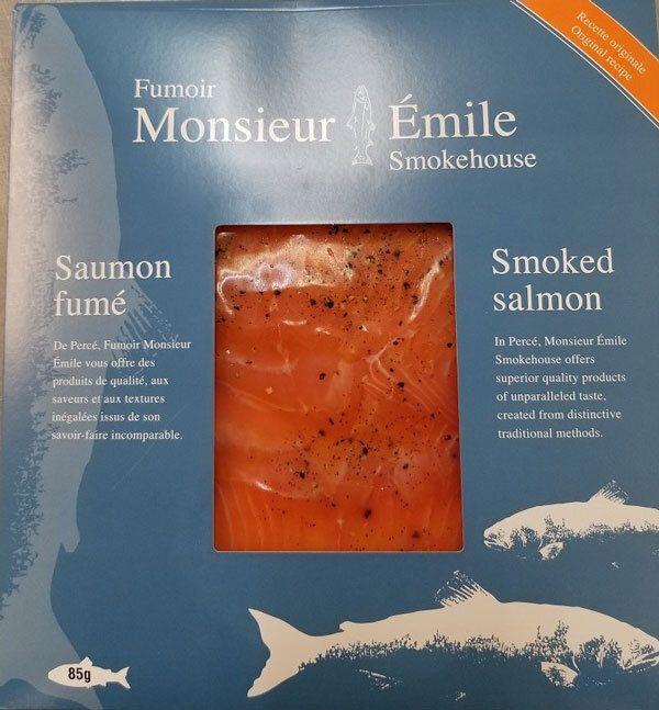 Du saumon fumé du Fumoir Monsieur Émile possiblement