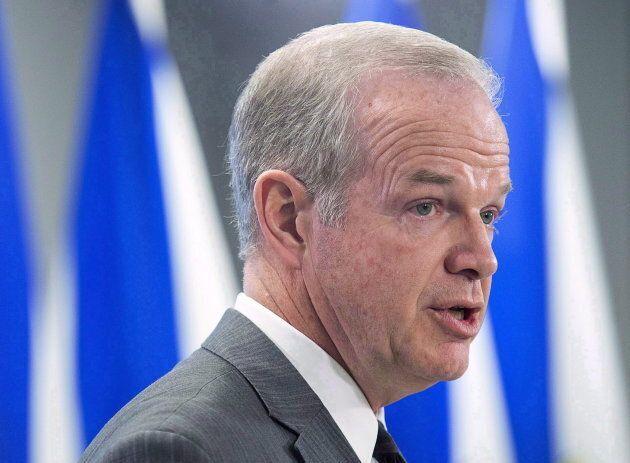 Le ministre de la Justice de la Nouvelle-Écosse, Mark Furey, fait un discours lors d'une conférence de...