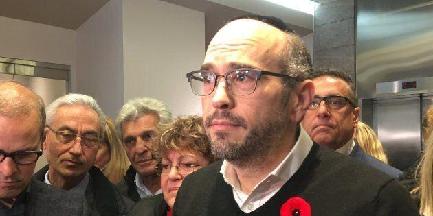 Lionel Perez, chef du parti Ensemble Montréal.