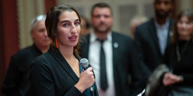 Émilise Lessard-Therrien a prêté serment comme députée de Rouyn-Noranda-Témiscamingue.