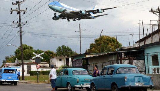Cette photo résume parfaitement l'arrivée des États-Unis à