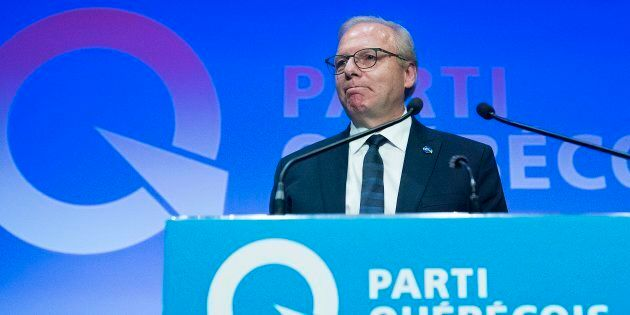 Jean-François Lisée, le soir des élections, lors de son discours de