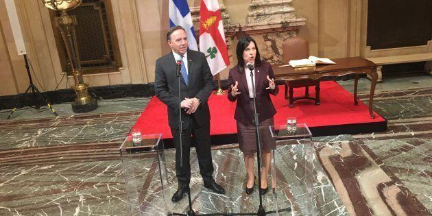 Premier tête à tête entre François Legault et Valérie Plante à l'hôtel de Ville de Montréal.