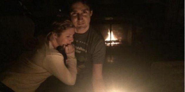 Justin Trudeau et Sophie Grégoire dans le noir pour la