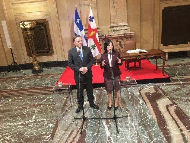 Premier tête à tête entre François Legault et Valérie Plante à l'hôtel de Ville de