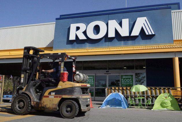 Neuf magasins Rona seront fermés par