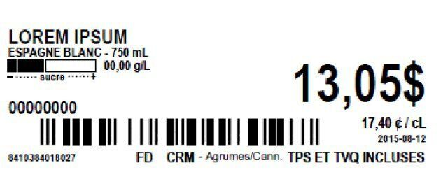 Étiquette SAQ
