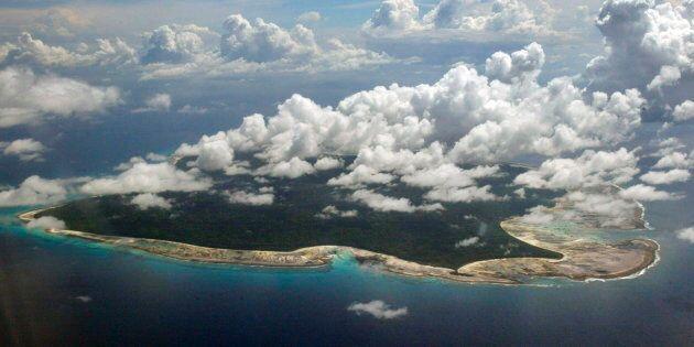 L'île de North Sentinel, située dans la mer