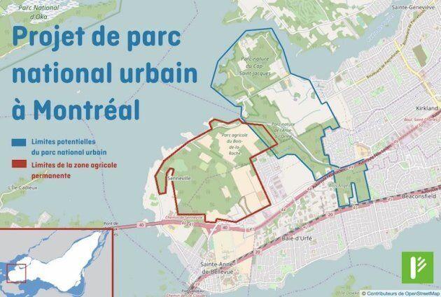 L'administration Plante prévoit la création d'un vaste «parc national urbain» dans la pointe ouest de...
