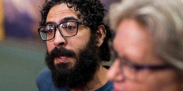 Hassan Al Kontar à son arrivée à Vancouver,