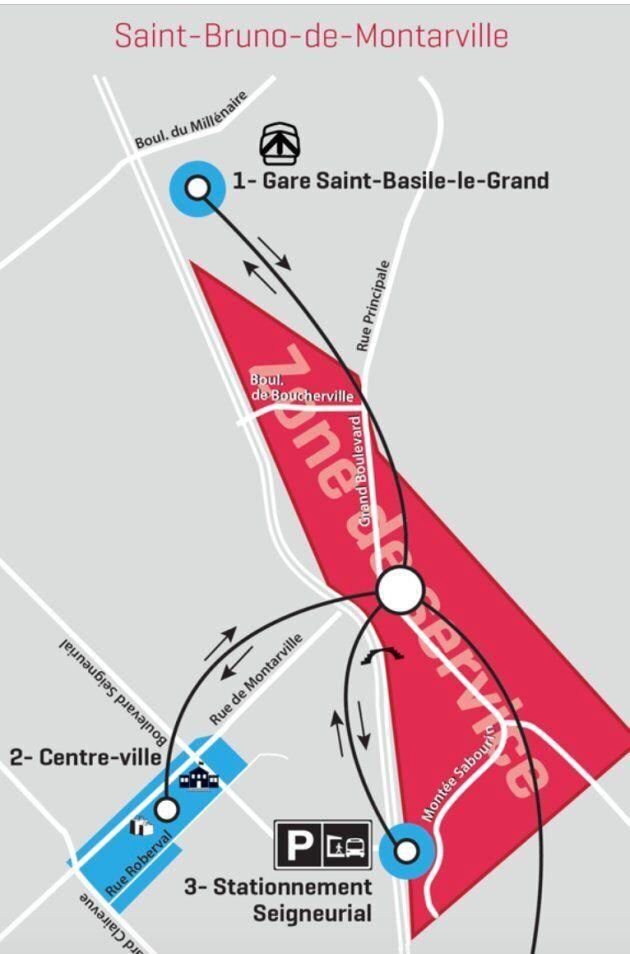 Certains secteurs de Saint-Bruno-de-Montarville auront désormais accès à un nouveau service de transport...