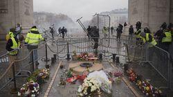 Gilets jaunes et CRS s'affrontent autour de la tombe du Soldat