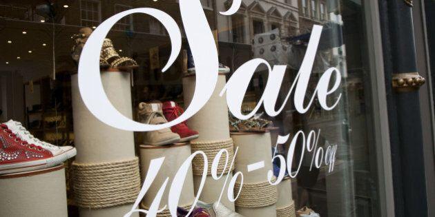 Sale sign in shop window