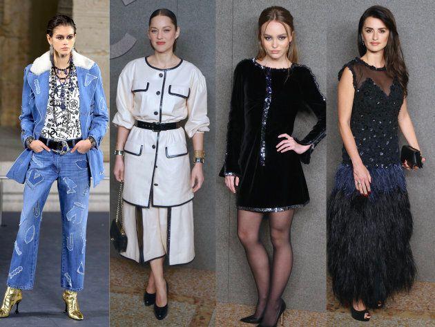 Karl Lagerfeld présentait sa nouvelle collection Croisière pour Chanel, à New York, mardi 4 décembre....