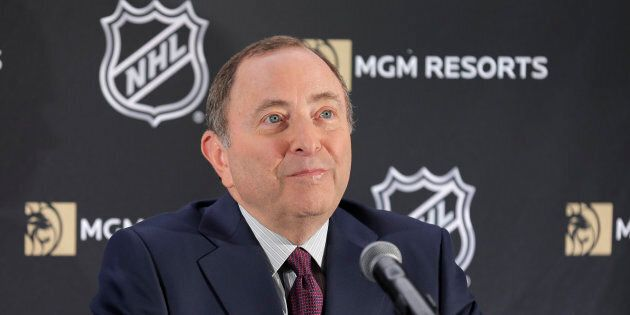 Le commissaire de la Ligue nationale de hockey, Gary