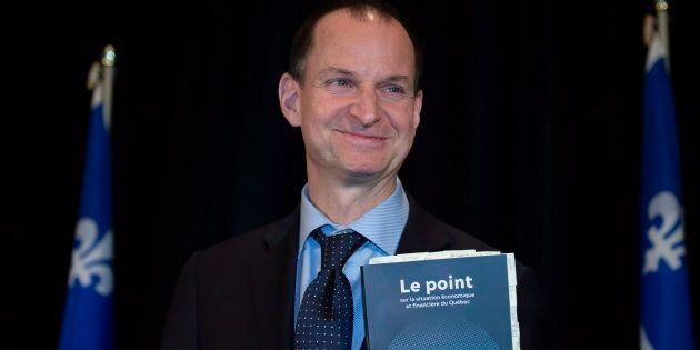 Le ministre des Finances, Éric Girard, a présenté sa mise à jour économique le 3 décembre 2018.