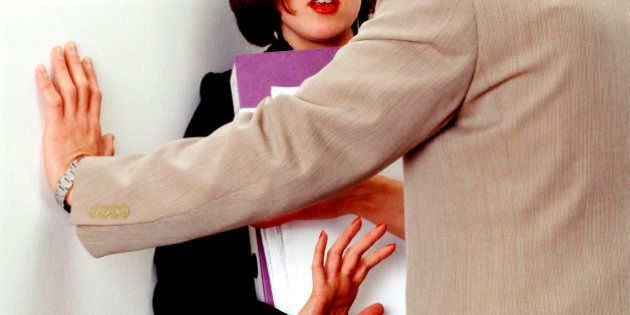 Businesswoman Rejecting