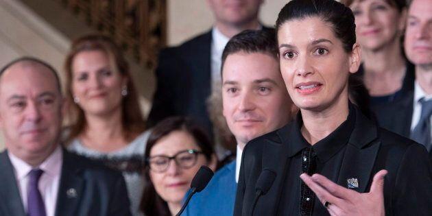 Geneviève Guilbault, vice-première ministre et ministre de la Sécurité publique, a tenu un point de presse...