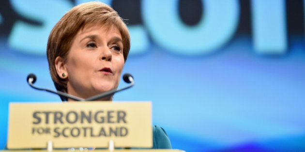 ABERDEEN, SCOTLAND - OCTOBER 15: First Minister Nicola Sturgeon delivers a welcome address to the 81st...